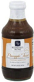 marinade teriyaki, pineapple twist Kendall Rose Nutrition info