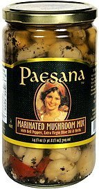 marinated mushrooms mix with bell peppers, extra virgin olive oil & herbs Paesana Nutrition info
