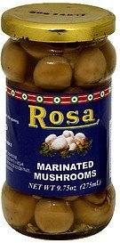 marinated mushrooms Rosa Nutrition info
