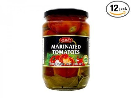 marinated tomatoes Zergut Nutrition info
