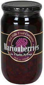marionberries in light syrup Red Hills Fruit Company Nutrition info