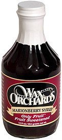 marionberry syrup Wax Orchards Nutrition info