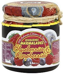 marmalade blueberries & raspberries Qiuquenes Nutrition info