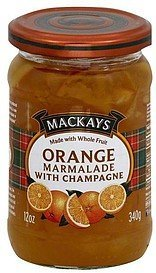 marmalade . orange, with champagne Mackays Nutrition info