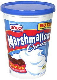 marshmallow creme Solo Nutrition info