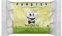 marshmallows air-puffed, classic vanilla flavor Dandies Nutrition info
