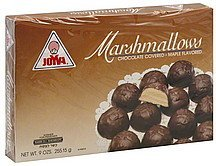 marshmallows chocolate covered, maple flavored Joyva Nutrition info