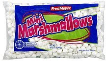 marshmallows mini Fred Meyer Nutrition info