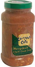 maryland style crab soup Carryout Cafe Nutrition info