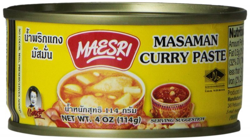 masaman curry paste Maesri Nutrition info