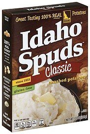 mashed potatoes classic Idaho Spuds Nutrition info