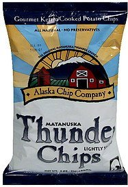 matanuska thunder chips lightly salted Alaska Chip Company Nutrition info