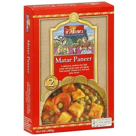 matar paneer Truly Indian Nutrition info