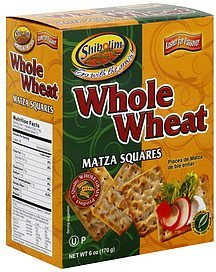 matza squares whole wheat Shibolim Nutrition info