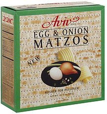 matzos egg & onion Aviv Nutrition info