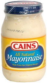 mayonnaise all natural Cains Nutrition info