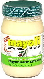 mayonnaise dressing with pure olive oil Mayoli Nutrition info