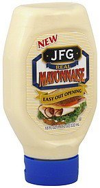 mayonnaise real JFG Nutrition info