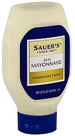 mayonnaise real Sauers Nutrition info