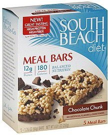 meal bars chocolate chunk South Beach Diet Nutrition info