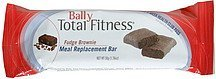 meal replacement bar fudge brownie Bally Total Fitness Nutrition info