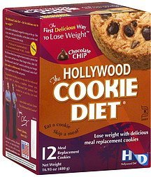 meal replacement cookies chocolate chip The Hollywood Cookie Diet Nutrition info