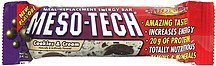 meal-replacement energy bar cookie & cream Meso-Tech Nutrition info