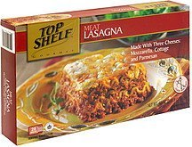 meat lasagna Top Shelf Nutrition info