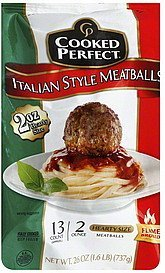 meatballs italian style, hearty size Cooked Perfect Nutrition info