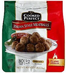 meatballs italian style Cooked Perfect Nutrition info