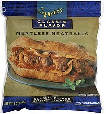 meatballs meatless, classic flavor Nates Nutrition info