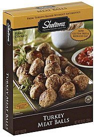 meatballs turkey Sheltons Nutrition info