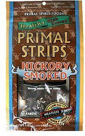 meatless jerky hickory smoked Primal Strips Nutrition info