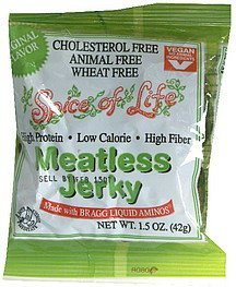 meatless jerky original flavor Spice of Life Nutrition info