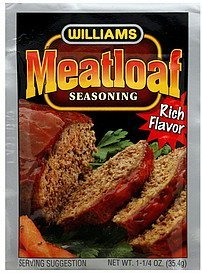 meatloaf seasoning Williams Nutrition info