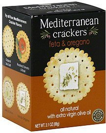 mediterranean crackers feta & oregano Natural Nectar Nutrition info