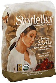 medium shells 100% organic Starletta Nutrition info