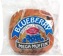 mega muffin, blueberry Dolly Madison Bakery Nutrition info