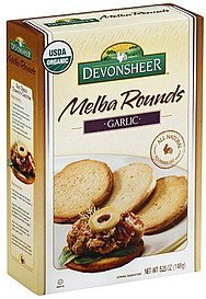melba rounds garlic Devonsheer Nutrition info
