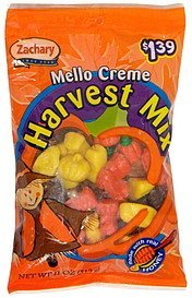 mello creme harvest mix halloween, pre-priced Zachary Nutrition info