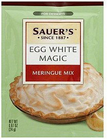 meringue mix egg white magic Sauers Nutrition info