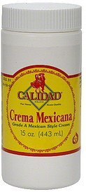 mexican style cream grade a Calidad Nutrition info