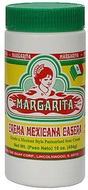 mexican style sour cream grade a, pasteurized Margaritas Nutrition info