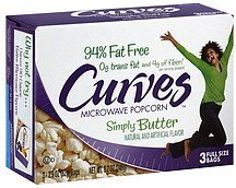 microwave popcorn simply butter Curves Nutrition info