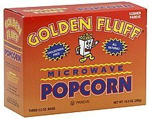 microwave popcorn Golden Fluff Nutrition info