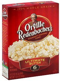 microwave popping corn gourmet, ultimate butter Orville Redenbachers Nutrition info