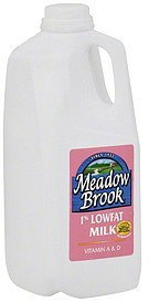milk 1% lowfat Meadow Brook Nutrition info
