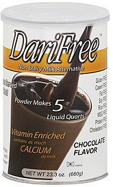 milk alternative non dairy, chocolate flavor DariFree Nutrition info