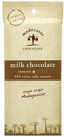 milk chocolate 44% cocoa Madecasse Nutrition info