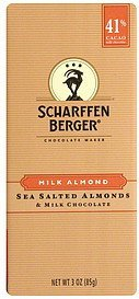 milk chocolate almond Scharffen Berger Nutrition info